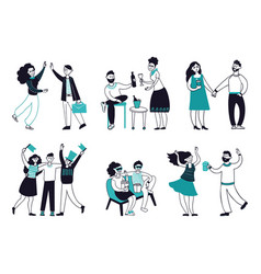 friends spend time together happy friend people vector image