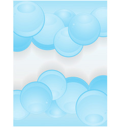 Glossy blue spheres portrait background vector