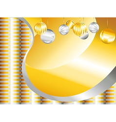 Gold and silver Christmas background vector image