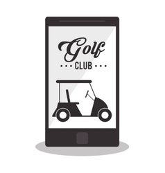 Golf sport club design vector