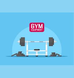 gym equipment set vector image