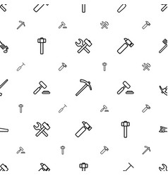 Hammer icons pattern seamless white background vector