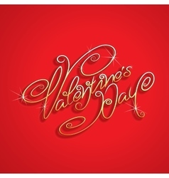 Hand drawn Valentines Day Lettering vector