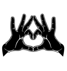 hands symbolic love vector image