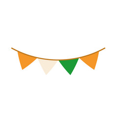 Happy independence day india pennants decoration vector