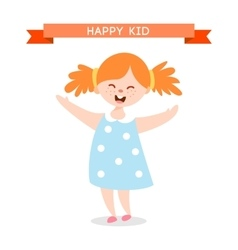 Happy kid cartoon vector image
