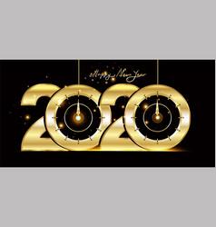 Happy new year 2020 - new year shining black vector