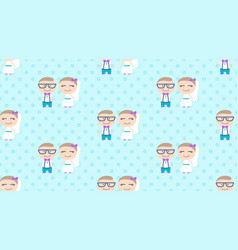 hipster wedding seamless pattern vector image