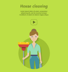 house cleaning banner vector image