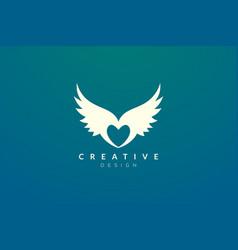 Idea design is a combination heart vector