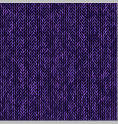 knit texture melange purple color seamless vector image