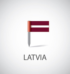 Latvia flag pin vector image