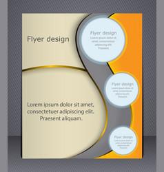 Layout business brochure flyer template vector