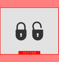 lock icon unlock symbol flat design vector image