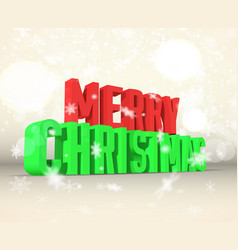 merry christmas inscription template vector image vector image
