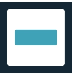 Minus flat blue and white colors rounded button vector