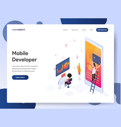 mobile developer isometric concept vector image