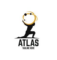 Modern atlas logo vector