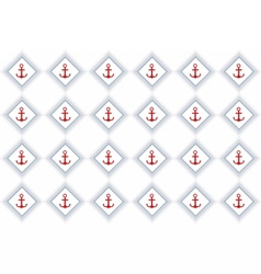 Nautical or marine themed pattern vector