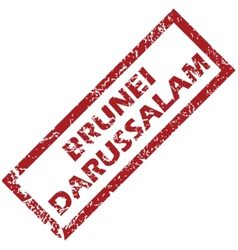 New Brunei Darussalam rubber stamp vector