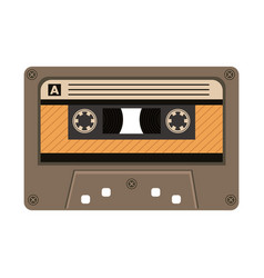 Old retro cassette device icon vector