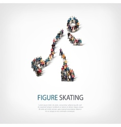people sports figure skating vector image