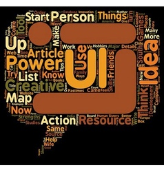 Personal Power Maps and Creative Ideas text vector