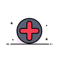 plus sign hospital medical business flat line vector image