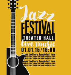 Poster for jazz festival with a guitar vector