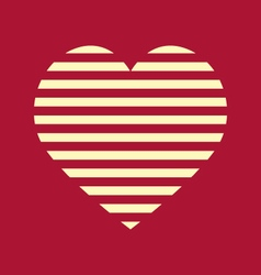 Red and Yellow Stripped Heart vector image