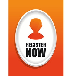 Register now design vector image