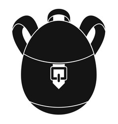 Rucksack icon simple style vector