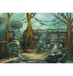 Ruins jungle vector image