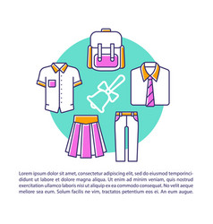 school college fashion article page template vector image