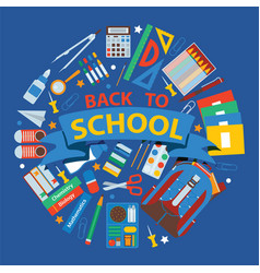 School items background back vector