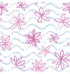 seamless wave pattern with polka dot ornament vector image