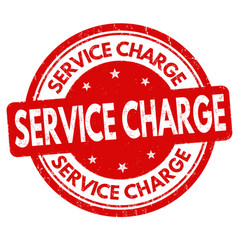 service charge grunge rubber stamp vector image