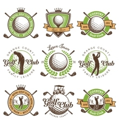 Set of vintage golf emblems vector image