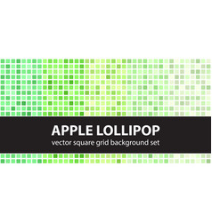 square pattern set apple lollipop seamless vector image