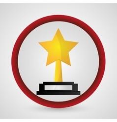 Star trophy cinema and movie design vector