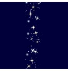 Starry line on dark blue background vector