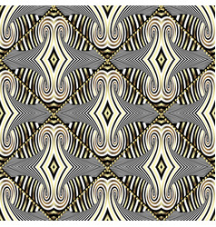 striped abstract geometric seamless pattern vector image