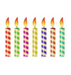 Striped candles vector
