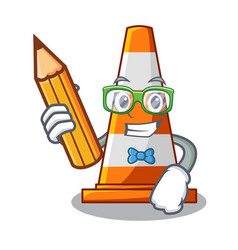 Student traffic cone on made in cartoon vector