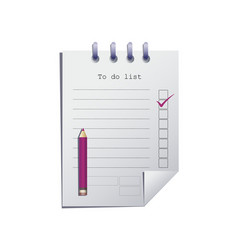 To do list or planning icon concept vector