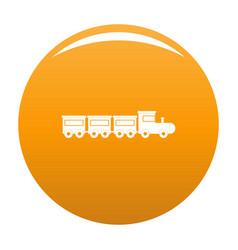 toy train icon orange vector image