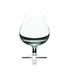 Transparent Empty Wine Glass Isolated On White vector image