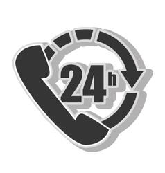 Twentyfour hours service vector
