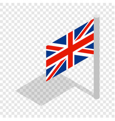 Uk flag isometric icon vector