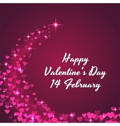 Valentine s day celebratory background vector